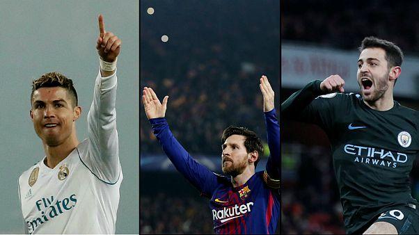 Ronaldo, Leo Messi e Bernardo silva entre os favoritos na Liga dos Campeões