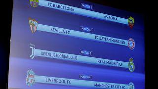Barça-Roma, Sevilla-Bayern, Juventus-Real Madrid y Liverpool-Manchester City, duelos de cuartos en la Champions