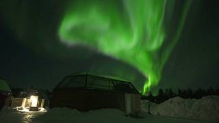 Spectacular norhtern lights display in Finland