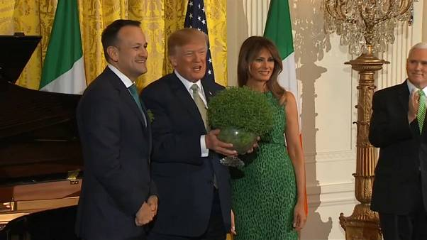 Varadkar offers shamrock to President Trump