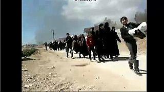 Unos 20.000 civiles huyen de Guta Oriental