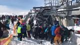 Skiers throw themselves from lift as it malfunctions at Georgia resort