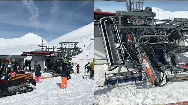 Guasto ad una seggiovia in Georgia, sciatori sbalzati in aria: diversi feriti