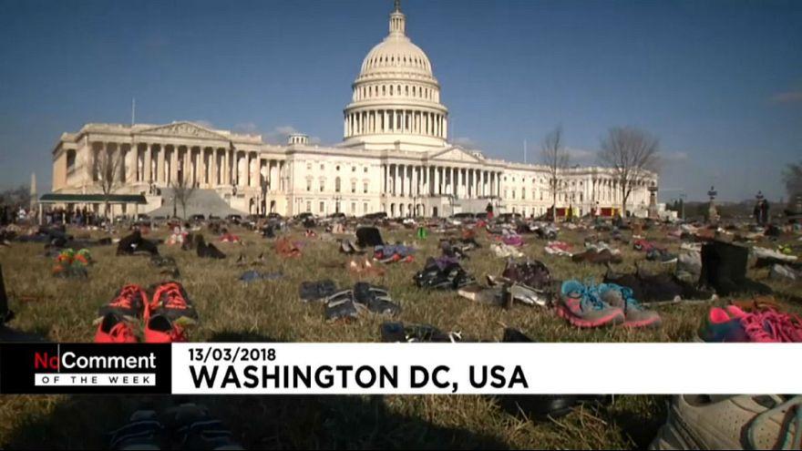 بدون شرح هفتگی: از هفت هزار جفت کفش در برابر کاخ سفید تا بازار سوخته حلب