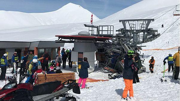 Elszabadult egy sílift Grúziában