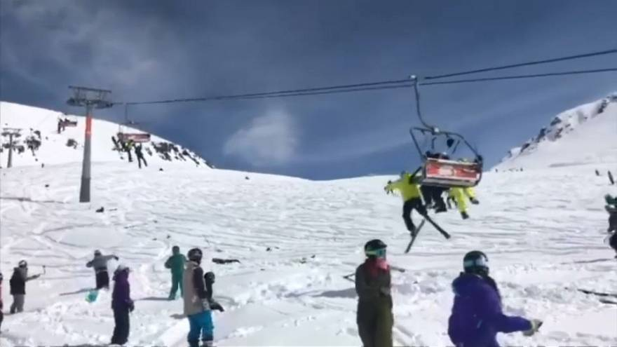 Chairlift rollercoaster as 12 hurt in Georgian resort accident