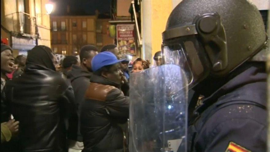 Disturbios en el madrileño barrio de Lavapiés por la muerte de un inmigrante