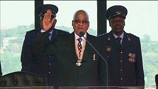 Zuma being sworn in as president