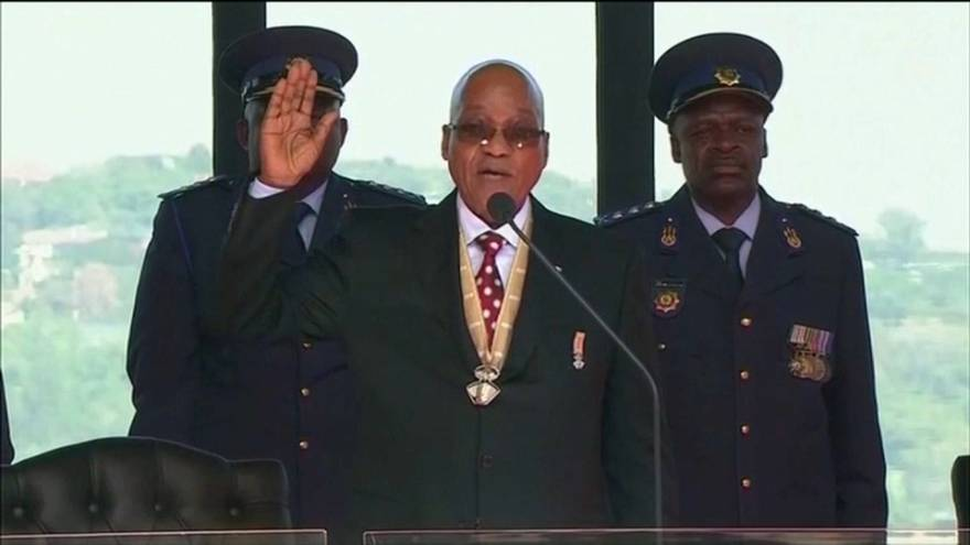 Zuma being sworn in as president