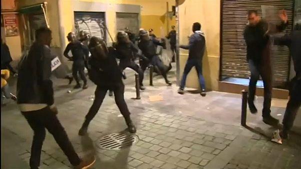 Мадрид: столкновения мигрантов с полицией