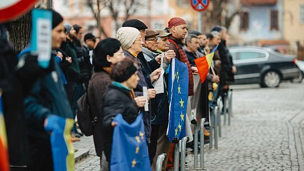 Deafening silence: Romanian protesters keep quiet to make their point