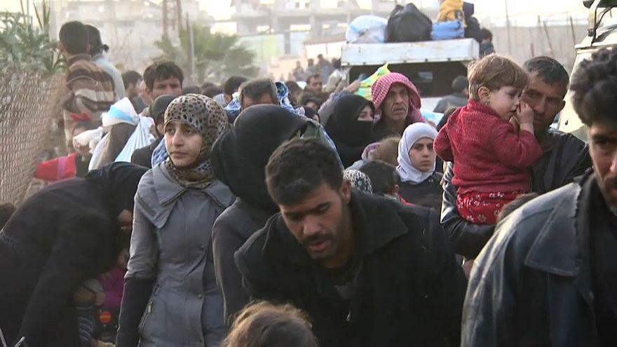 Weiterhin Massenflucht aus Ost-Ghouta