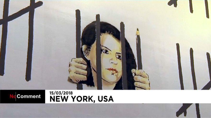 Banksy protestiert gegen Verhaftung einer kurdischen Künstlerin