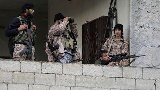 Kämpfer der Freien Syrische Armee in der Nähe von Afrin