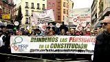 Indignación por las pensiones en España