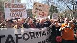 Thousands of Spanish pensioner's protest over pensions