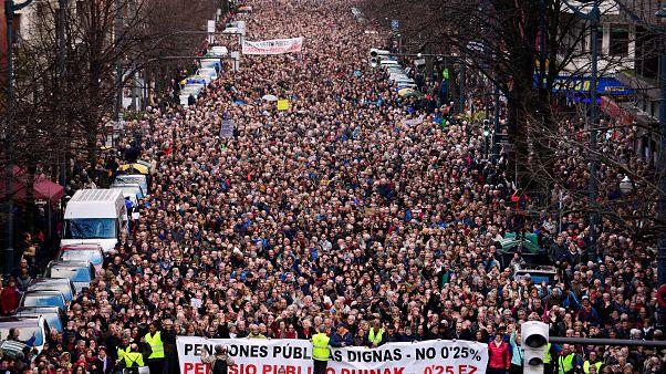 Iσπανία: Στους δρόμους οι συνταξιούχοι