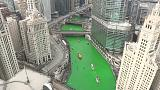 Dia de São Patrício: Chicago pintou o rio da cor oficial