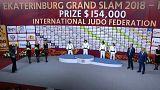 درخشش هیفومی آبه از ژاپن در اولین روز رقابتهای گراند اسلم «یکاترینبورگ»