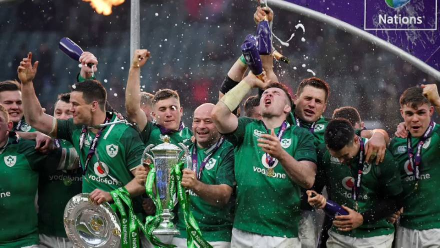 Jubilation as Ireland wins the Six Nations
