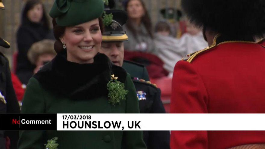 شاهد: الأمير وليام والأميرة كيت يحتفلان بيوم القديس سان باتريك