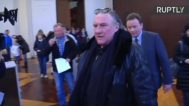 Gerard Depardieu among expatriates voting in Russian presidential election