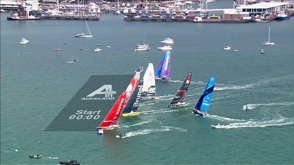 Equipas deixam Auckland para a etapa mais longa da Volvo Ocean Race