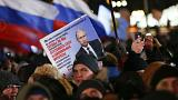 Watch live: Putin set for fourth term after first results give him huge lead