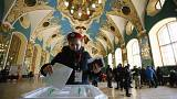 Watch live: first results show huge lead for Putin in Russia's presidential election