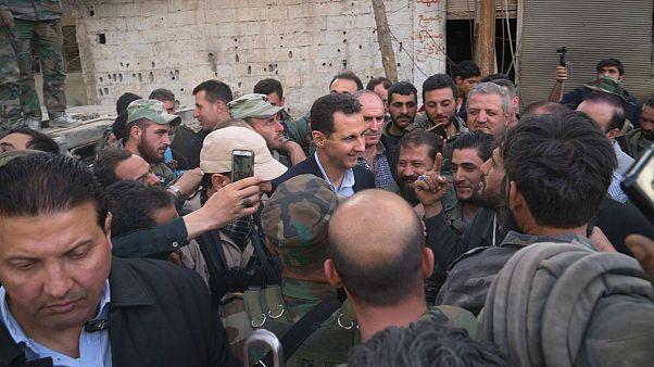 Esad Doğu Guta'da ordusunu ziyaret etti