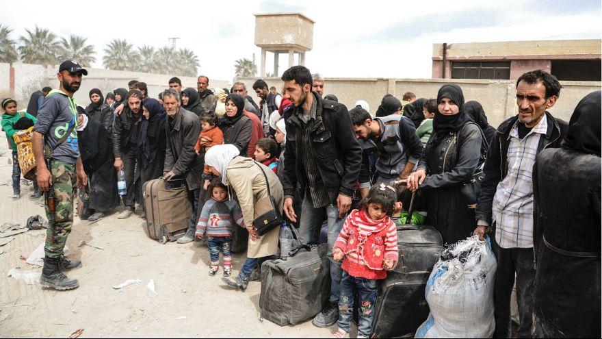 Több ezer ember menekült el Kelet-Gútából