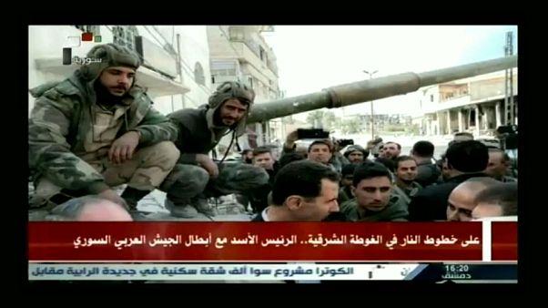 Bashar al-Assad em Ghouta Oriental