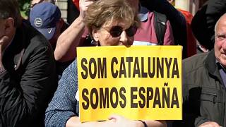 Demonstration für Spaniens Einheit