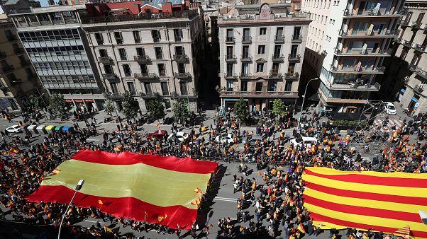 Βαρκελώνη: Διαδήλωση ενάντια στην απόσχιση της Καταλονίας