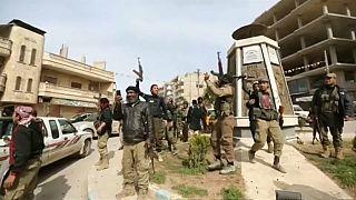 Türken feiern in Afrin