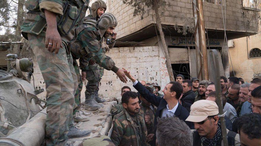 """""""Habéis salvado Damasco"""" dice Al Asad a las tropas en Guta Oriental"""