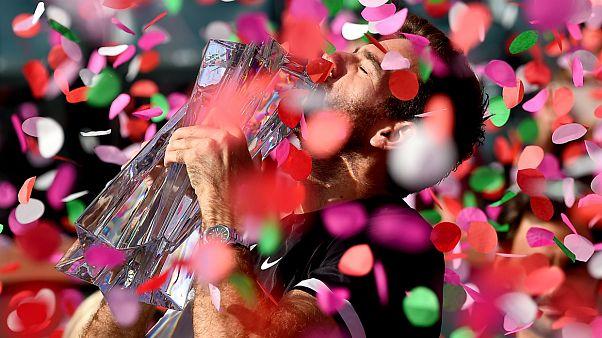 تنیس؛ جام قهرمانی ایندین ولز در دستان دل پوترو
