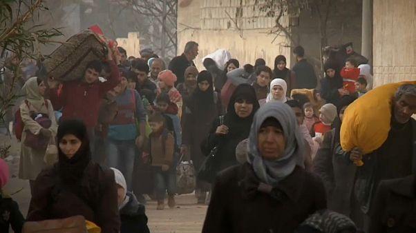Восточная Гута: приезд Асада и исход мирных жителей