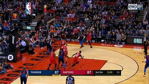 NBA: Oklahoma batte Toronto 132-125