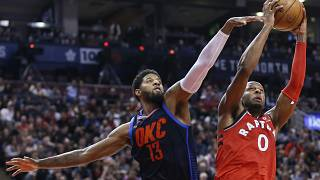 Thunder defeat Raptors in Toronto