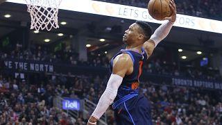 Raptors'ın galibiyet serisine Thunder son verdi