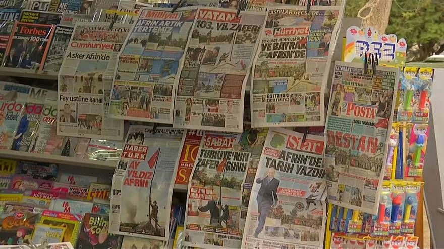 Turkish newspapers celebrate ousting of Kurdish fighters from Afrin