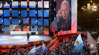 Putin com 76,6% de votos e ainda nem todos foram contados