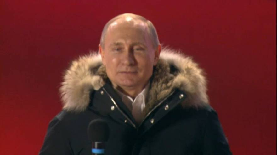 Putin basks in re-election victory