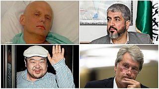 خالد مشعل، الکساندر لیتوینینکو، ویکتور یوشچنکو، کیم جونگ نام