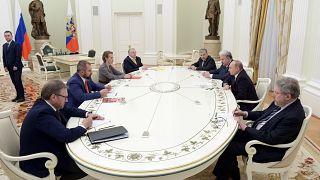 Candidatos recebidos por Vladimir Putin