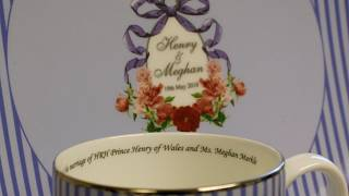 Royal ceramics to celebrate the wedding between Prince Harry and Meghan Markle