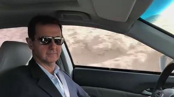 Autózva hirdette győzelmét a szír elnök