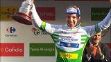 Hodeg celebra la victoria de etapa
