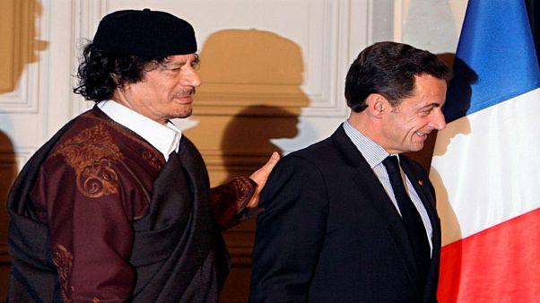 توقيف ساركوزي للتحقيق معه بشأن مزاعم تمويل القذافي لحملته الانتخابية